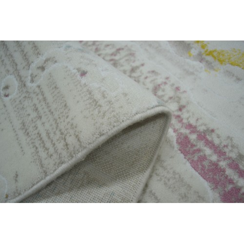 Χαλιά Bellagio Cream Pink/Yellow 100x300cm GN3508-1x3