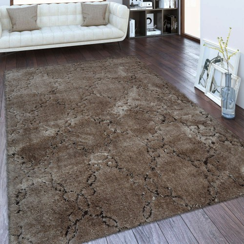 Χαλιά Shaggy Brilliance Καφέ Ανοιχτό (Light Brown) 160x210cm  01482B-6-160