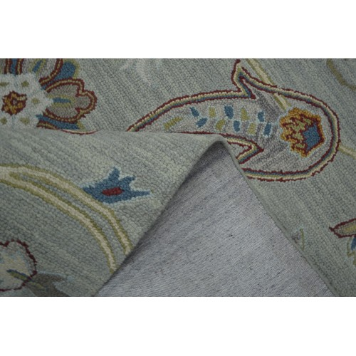 Χαλιά χειροποίητα μάλλινα της σειράς Diamond Γκρι Κρεμ Μπλε 240x300cm M-601