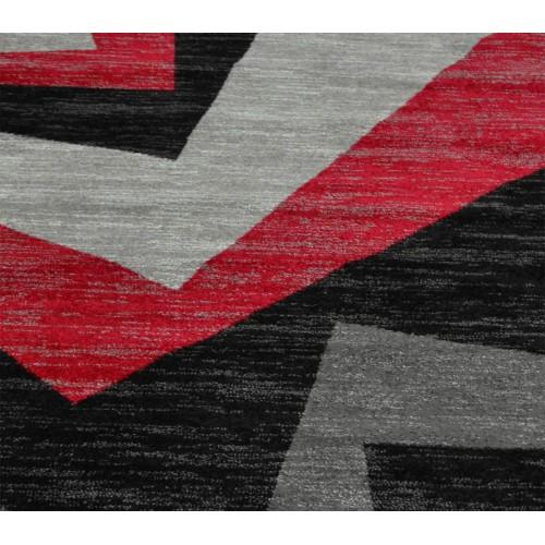 Πατάκι 66X73cm Madison Frieze Black-L Red KG2101-1a