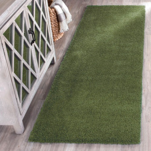 Διάδρομος 80cm Velvet Soft Touch Shaggy D Green A01820-1-80