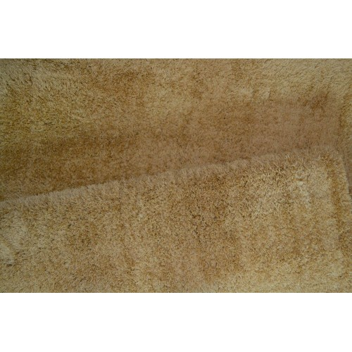1+1 Δώρο Χαλιά Velvet Soft Touch Shaggy 133x160cm Gold A01820-3-133