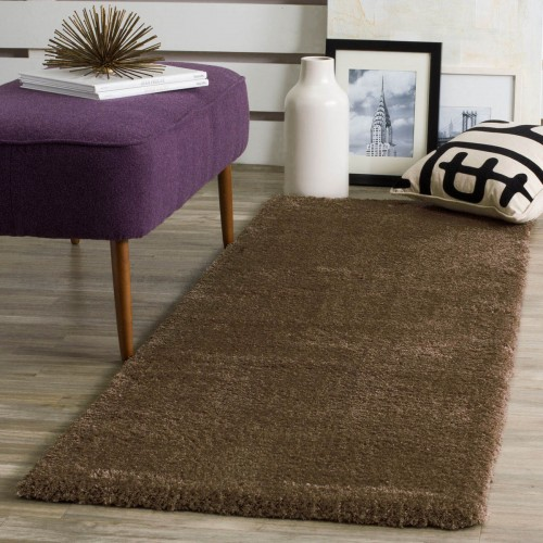 Διάδρομος 80cm Velvet Soft Touch Shaggy Brown A01820-6-80