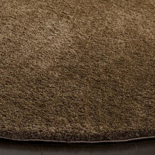 1+1 Δώρο Χαλιά Velvet Soft Touch Shaggy 133x160cm Brown A01820-6-133
