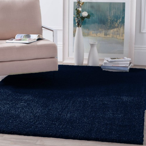 Χαλιά Velvet Soft Touch Shaggy 133x160cm Dark Blue A01820-7-133
