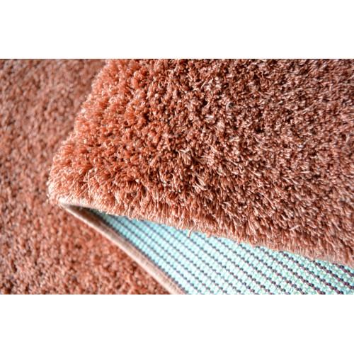 1+1 Δώρο Χαλιά Velvet Soft Touch Shaggy 133x160cm Terra A01820-8-133