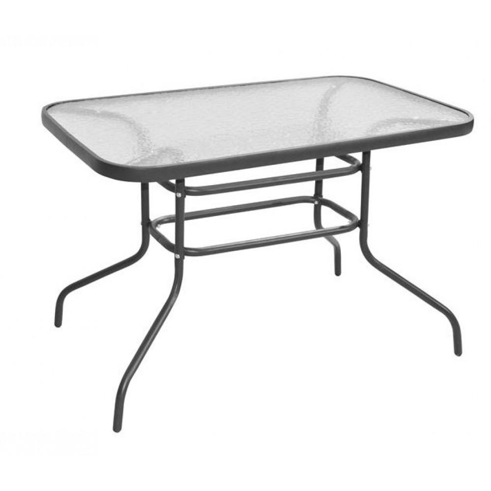 Τραπέζι μεταλλικό 140x80x72cm γκρι έπιπλα κήπου βεράντας tb1006