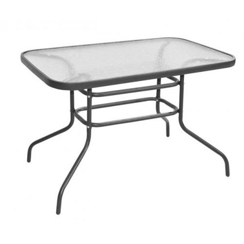 Τραπέζι μεταλλικό 100x60x70cm έπιπλα κήπου βεράντας γκρι tb1004