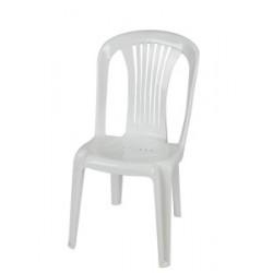 Καρέκλα πλαστική Ποσειδώνας Λευκή έπιπλα κήπου-βεράντας 8742-1