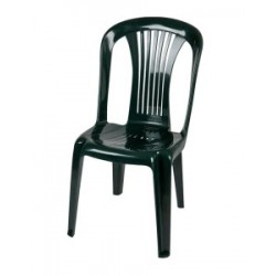 Καρέκλα πλαστική Ποσειδώνας πράσινη έπιπλα κήπου-βεράντας 8742-3