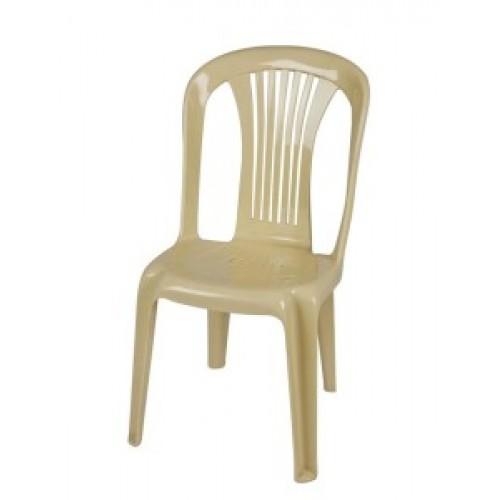 Καρέκλα πλαστική Ποσειδών μπεζ έπιπλα κήπου-βεράντας 8742-2