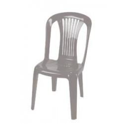Καρέκλα πλαστική Ποσειδών  γκρι έπιπλα κήπου-βεράντας 8742-4